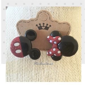 Mickey & Minnie Mouse Earrings 💫 Ear Studs. 💕